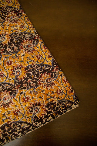 Fenugreek with Black Block Printed Kalamkari Fabric