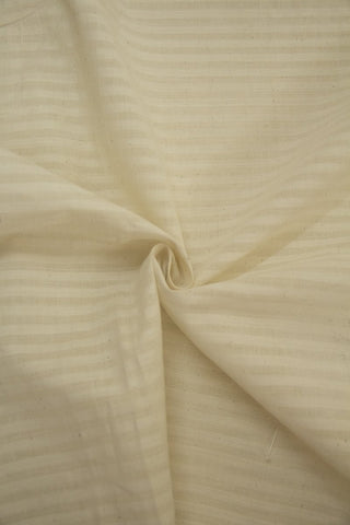 Off White Missing Weaves Handwoven Cotton Fabric