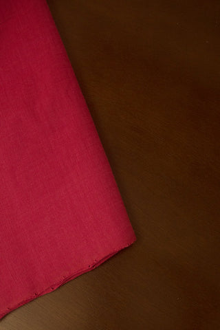 Dark Pink Handloom Plain Cotton Fabric