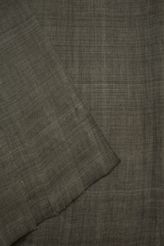 Cement Grey Yarn Dyed Handwoven Cotton Fabric