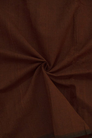 Dark Brownish Maroon Handwoven Cotton Fabric