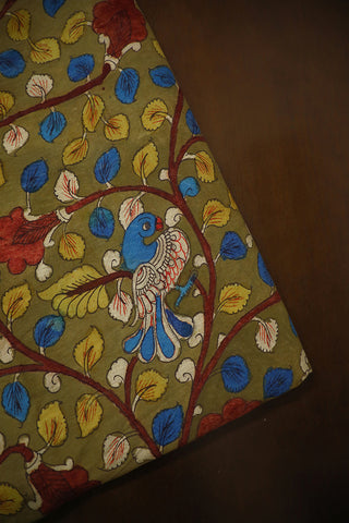 Floral Hand Painted Kalamkari Cotton Fabric