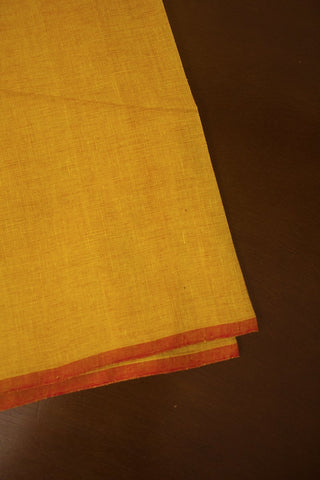 Double shade Mango Yellow Handwoven Fabric