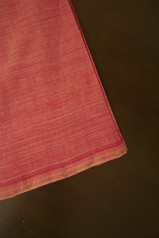 Lotus Pink Handwoven Plain Cotton Fabric