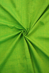 Yellowish Green Handwoven Cotton Fabric - 0.85m