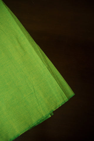 Yellowish Green Handwoven Cotton Fabric