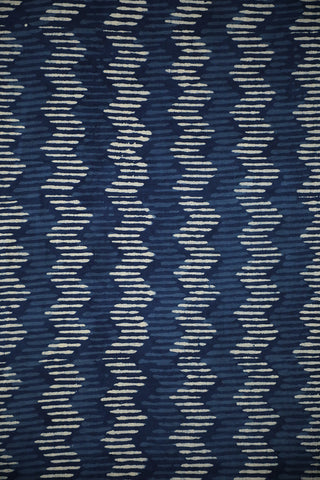 Zig Zag Block Printed Fabric
