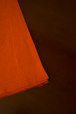 Double shade Orange Handwoven Cotton Fabric