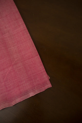 Light Peach Pink Handwoven Plain Cotton Fabric