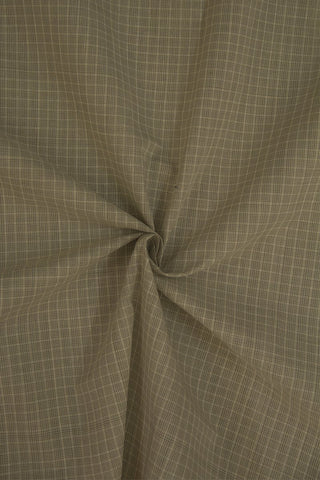 Subtle Grey Checks Handwoven Cotton Fabric-1.4 m