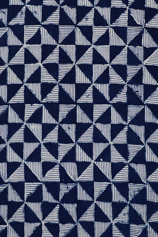 Triangles in Off White Block Printed Fabric