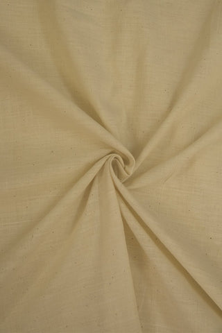 Off White Khadi Cotton Handwoven Cotton Fabric