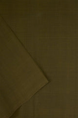 Dark Olive Green Handwoven Cotton Fabric