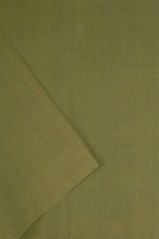 Greyish Green Natural Dyed Handwoven Cotton Fabric-1.5 m