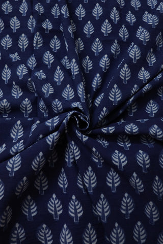 Leaf  Floral Block Printed Fabric