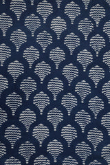 Indigo Blue Block Printed Fabric-1.5 m
