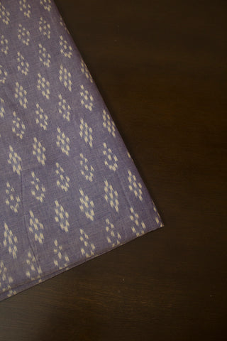 Light Blue with White Dots Ikat Mercerized Cotton Fabric