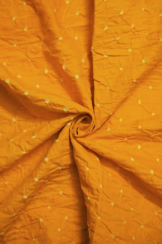 Yellow Bandhani  cotton Fabric