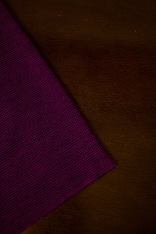 Dark Purple with Black Pin Stripes Handwoven Cotton Fabric