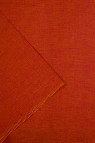 Double Shaded Pinkish Orange Handwoven Cotton Fabric