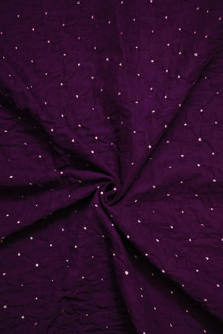 Purple with White Dots Bandhani  cotton Fabric