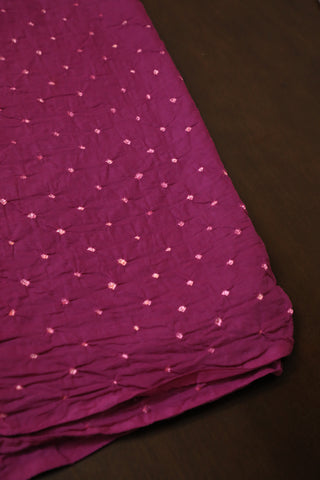Purplish Pink Bandhani  cotton Fabric