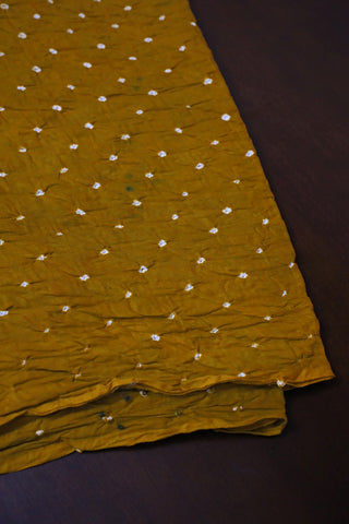 Fenugreek Yellow Bandhani  cotton Fabric