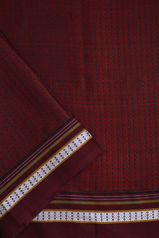 Maroon Khun Cotton Fabric