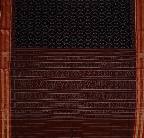 Black Handwoven Orissa Ikat Saree