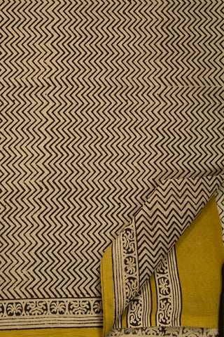 Zig Zag Bagru Mul Cotton Saree