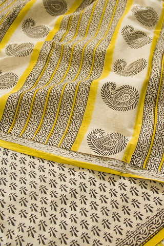 Bagru Block Printed Mul Cotton Saree