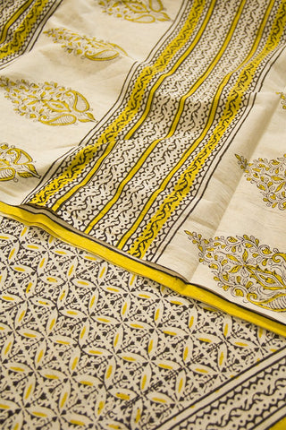 Intricate Block Printed Mul Cotton Saree