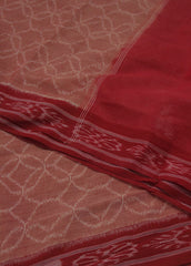 Natural Dyed Reddish Peach Hand woven Orissa Ikat Saree