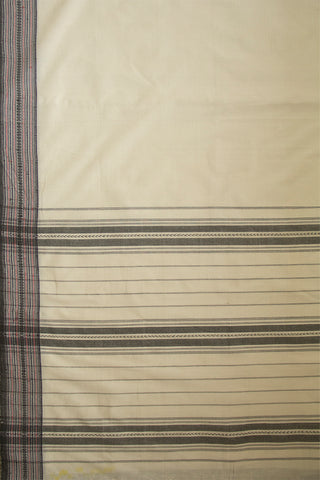 Off White with Thread Work Border Handwoven Cotton Saree