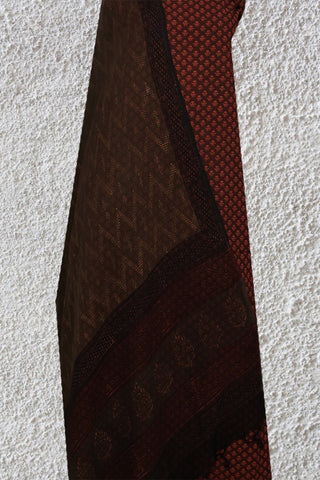 Maroon Natural Dyed Suit With Zig Zag Kota Dupatta