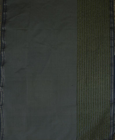 Double Shaded Greyish Blue Ikat Fabric with Missing Weaves Maheshwari Dupatta