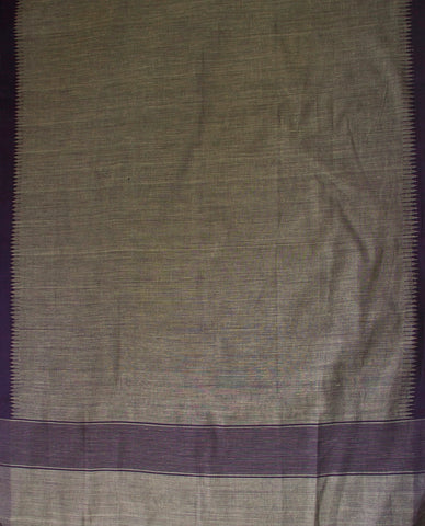Checkered Indigo Organic Cotton Fabric with  Kuppadam Khadi Dupatta