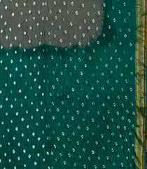 Grey with Green Tie and Dye Bandhani Saree