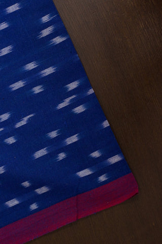 Blue with white Hanwoven Ikat Fabric
