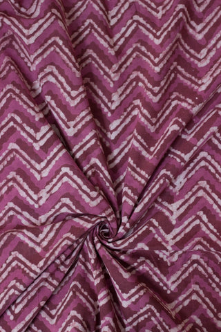 Shades of Pink Bagru Block Printed Cotton Fabric