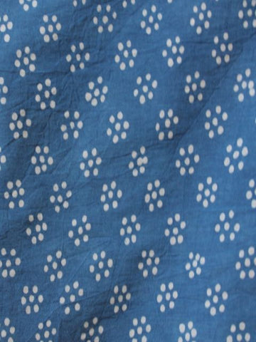 Natural Indigo Organic Cotton Fabric
