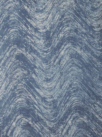 Subdued Indigo Waves - Cotton Fabric 1 m