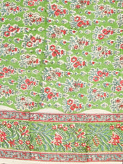 Green Floral Cotton Fabric - 1.15 m