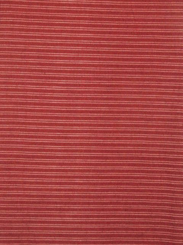 Maroon Striped Handwoven Cotton Fabric