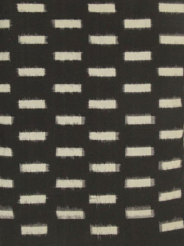 Special Black double Ikat cotton material