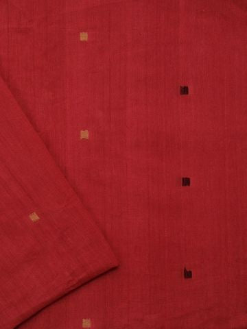 Reddish Pink Handwoven Cotton Fabric