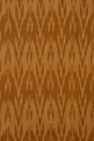 Brownish Yellow - Fine Ikat Handwoven cotton Fabric