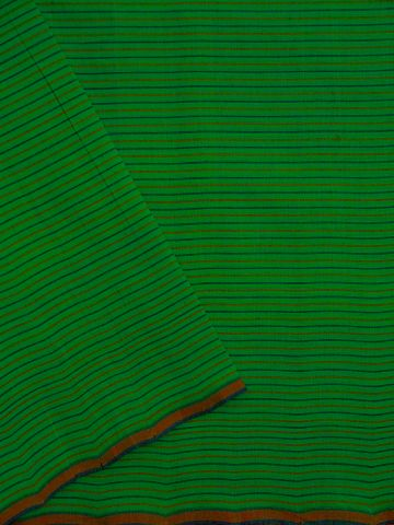 Green Stripes Handwoven Cotton Fabric - 1.5m