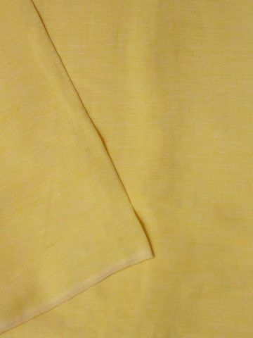 Light Yellow Handwoven Linen by Linen Fabric - 62 inch
