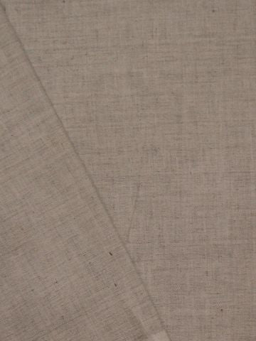Light Grey Handwoven Linen Cotton Fabric - 62 inch - 1m